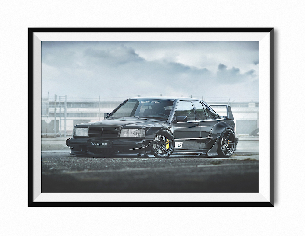 Mercedes Benz W 190 Evo Limited Edition A1 Print