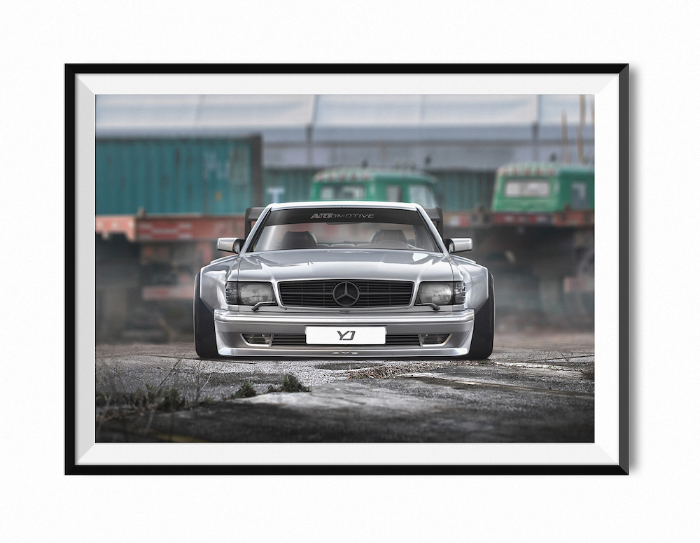 Home Artwork Prints 1989 Amg 560 Sec Mercedes Benz Limited Edition A1 Print
